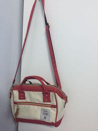 Anello red and white Sling Bag