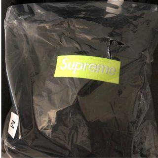 Supreme Box Logo Hoodie Black Lime Green FW17  M號
