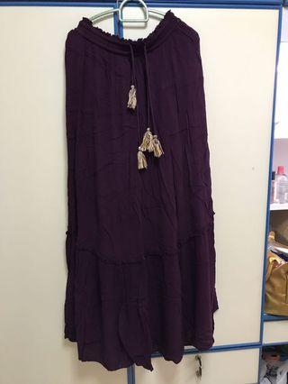 🚚 Dark Purple Long Skirt