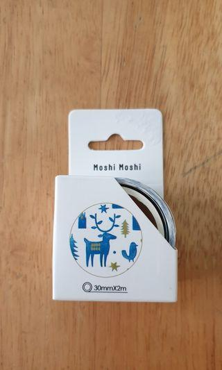 Blue deer washi tape