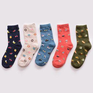 🚚 Food cartoon Socks
