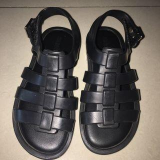Auth. Mini Melissa Flox sandals (Black)