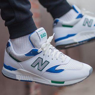 🚚 現貨 iShoes正品 New Balance 840 男鞋 白 藍 綠 皮革 復古 休閒 運動鞋 ML840AB D