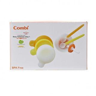 免運費‼️ 順豐取‼️   Combi Baby Label Tableware 幼兒餐具第一階段訓練套裝,嬰兒餵食, 送禮自用,嬰兒用品,BB,Birthday gift
