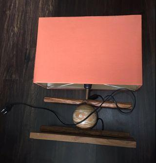 Rectangle Wood Table Lamp