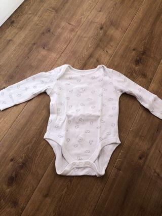 Body suit 0-6 bulan