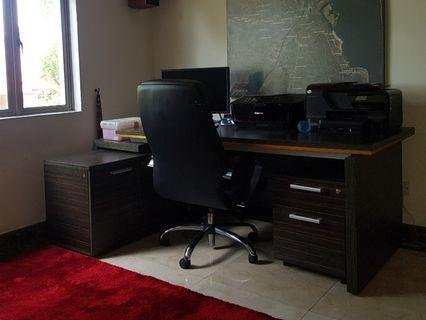 Office/Study desk and chair as well cabinet