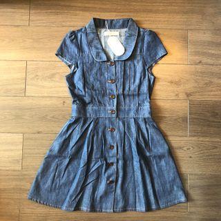 日本牌子 Dazzlin Denim Dress 連身牛仔裙