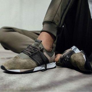 🚚 現貨 iShoes正品 New Balance 247 男鞋 墨綠 麂皮 復古 慢跑 休閒 運動鞋 MRL247RG D