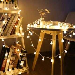 LED MINI BULB GLOBE FAIRY STRING LIGHTS (WARM WHITE)