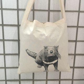 澳洲塔斯馬尼亞惡魔 托特包 購物袋 沙拉曼卡市集購
