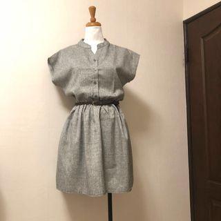 🚚 淺灰洋裝