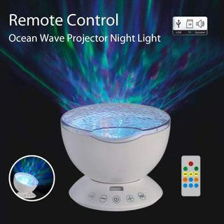 Umiwe Remote Control Ocean Wave Projector Night Light Lamp