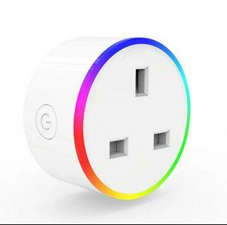 Vibrant RGB LED WIFI Plug Socket (With Wireless Control and Timer)