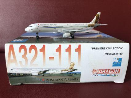 飛機模型 - 奧地利航空 1:400 A321 彩繪機