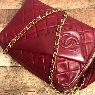 d4c47f4343e4 RESERVED Authentic Chanel Red Camera Bag in Lambskin w 24k Gold Hardware