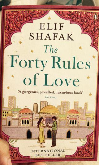 Forty rules of love - like new
