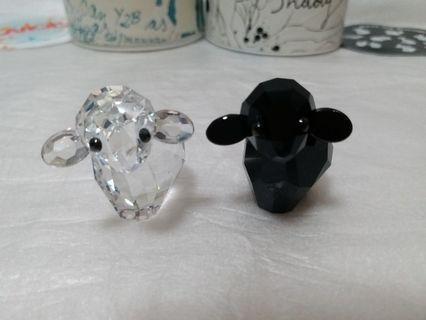 Swarovski Crystal Sheep SHADY & Y2B mint in original box