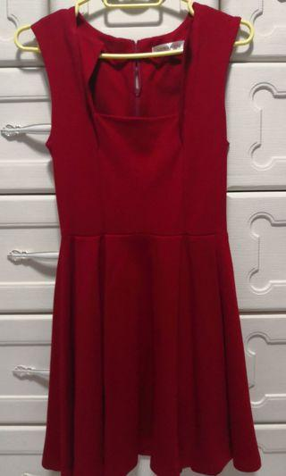 🚚 Fayth red skater dress