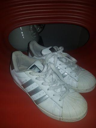 Adidas Superstar Silver White. Authentic