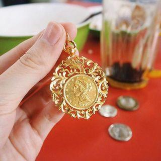 GIVER AUTHENTIC 1906 COIN GOLD PENDANT