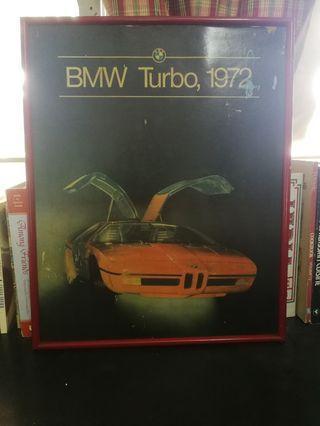 BMW Turbo 1972 Vintage Poster