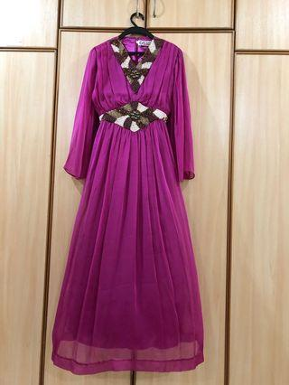Long Dress with full beading