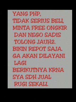 WARNING!! TOLONG DIBACA