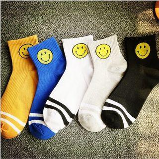 Smiley face high socks