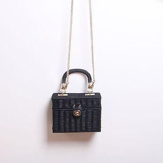 BNIB Woven Mini Crossbody Bag