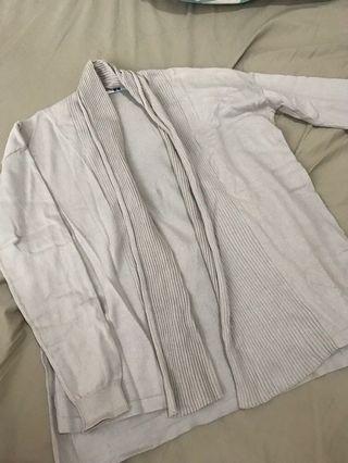 UNIQLO Light Grey Knit Cardigan