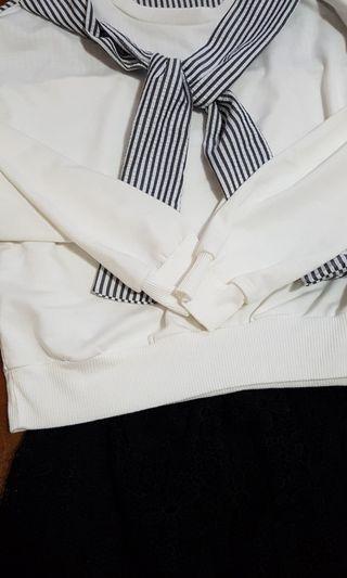 🚚 Ulzzang salior tee + shorts