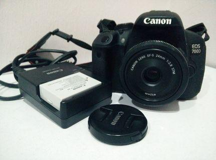 Canon 700d with 24mm stm