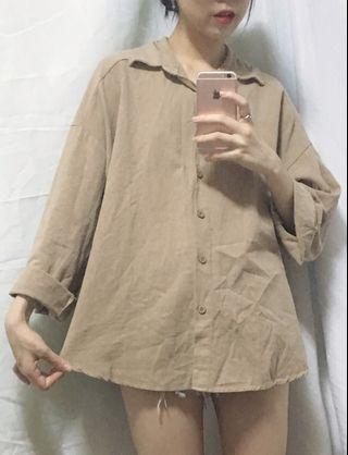 🚚 杏色襯衫