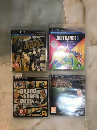 PS3 Games: Overkill, Just Dance 2015, GTA 5, Dynasty Warriors 7