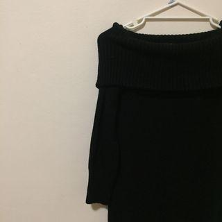 uniqlo off the shoulder knit dress