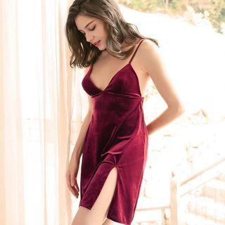 🚚 Promotion: clearance D022-Velvet elegant sleepwear / sleepdress/ lingerie / pajamas / sleep dress:
