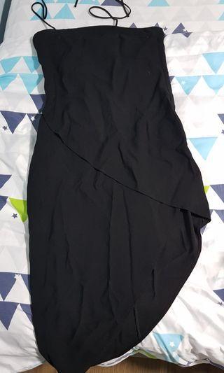 🚚 Black Assymetrical Dress