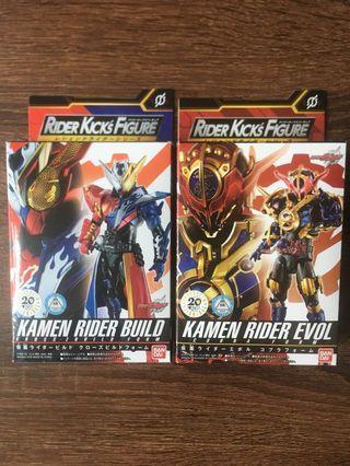 (已減價) 兩盒 全新 RKF kamen rider build cross-z build form / RKF kamen rider evol