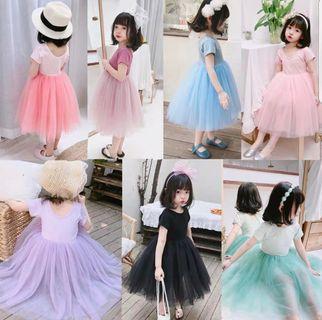 🚚 korean princess dress ( 80 -140cm)