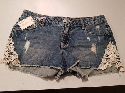 Just Jeans cheeky short size10