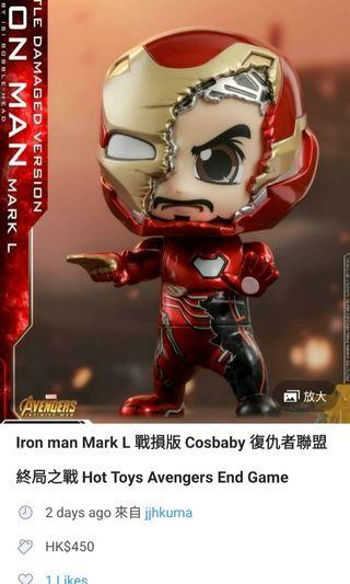 Hot toys cos baby iron man 50(戰損)endgame