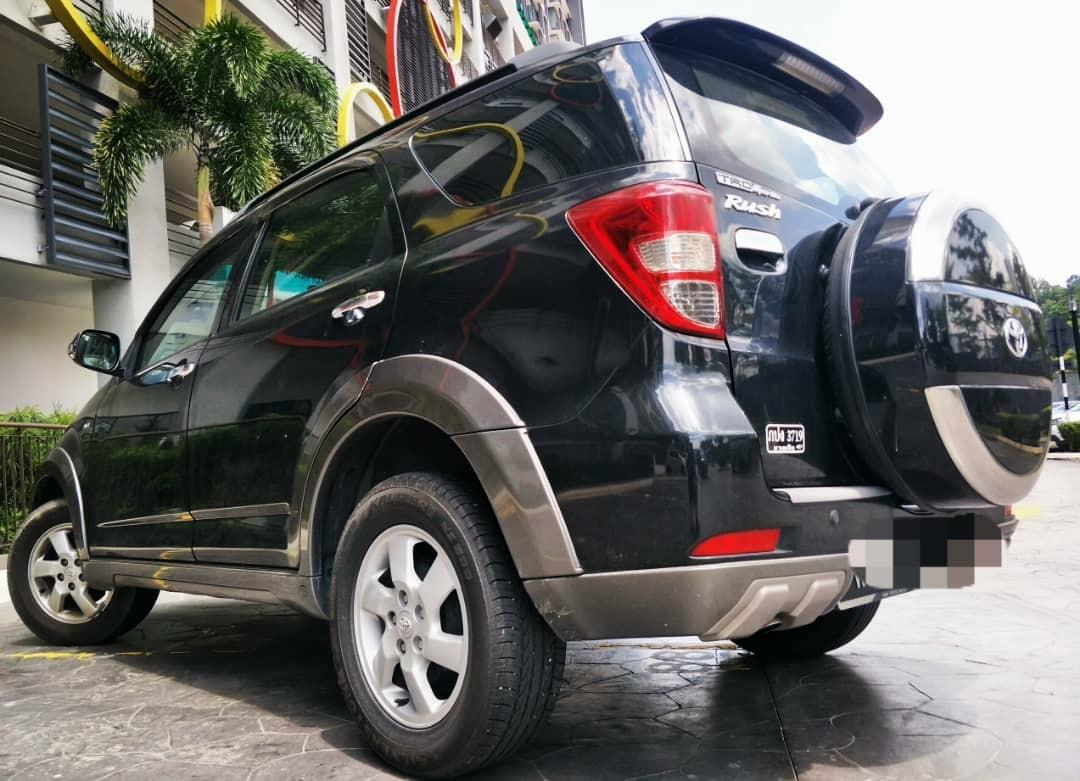 2008 Toyota RUSH 1.5 (A) dp 3990 JIKA B/LIST BOLEH LOAN KEDAI KERETA.