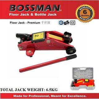 Bossman 2 Ton Hydraulic Portable Floor Jack With Box (for car)