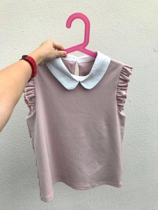 L'zzie pastel pink blouse