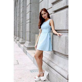 Shopsassydream Renah Lace Up Dress in Blue (SSD)