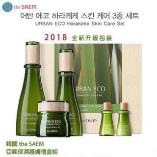 🚚 韓國 the SAEM Urban Eco Harakeke 亞麻保濕禮盒
