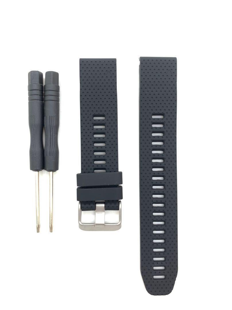 20mm Black Silicon Rubber Replacement Watchband Watch Strap with Quick Release for Garmin Fenix 5S Garmin Forerunner 645