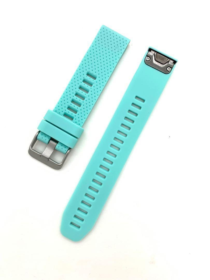 20mm Teal Green Silicon Rubber Replacement Watchband Watch Strap with Quick Release for Garmin Fenix 5S Garmin Forerunner 645 and other watches with 20mm lug width