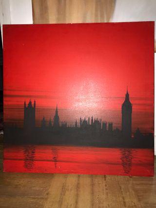London Skyline Painting